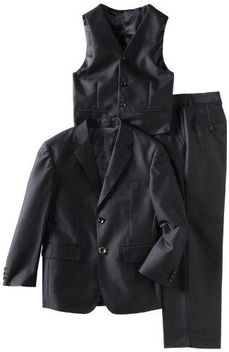 American Exchange Little Boys' Little Shiny Textured Suit