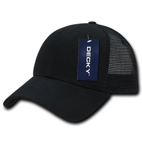 f1382d5aaa Amazon.com: DECKY 214-BLKBLK Low Crown Mesh Golf Cap, blk/Black ...