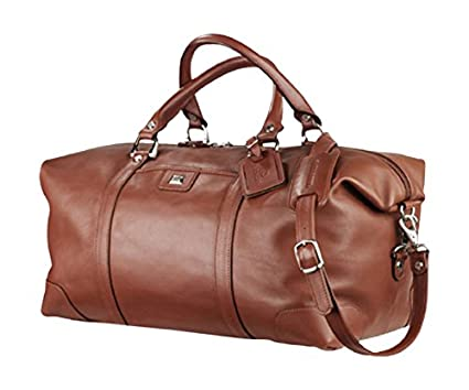 200b9ffcfb3 Amazon.com: Cutter & Buck Classics Vintage Leather Weekender Duffle Bag,  Chestnut: Sports & Outdoors