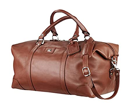 Amazon.com  Cutter   Buck Classics Vintage Leather Weekender Duffle ... ece79603f75e6