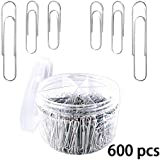 Paper Clips - 600 Pieces Paperclips 28mm 33mm 50mm Sliver Stainless Paperclip for School Office Personal Document Organizing Professional Work