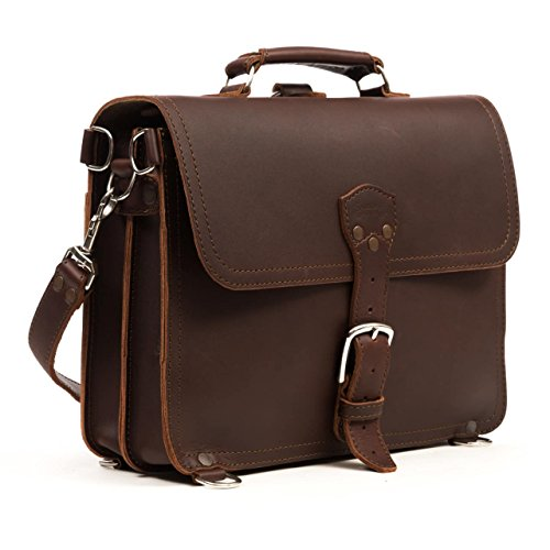 Saddleback Leather Thin Briefcase - Slim Leather Briefcase and Laptop Bag (Saddleback Leather Bag)