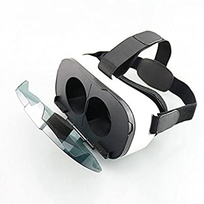 FIIT VR Virtual Reality 3D Glasses + Bluetooth Game Controller Gamepad - White + Black