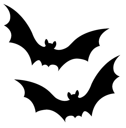 [Bat Halloween 2-Pack Decal Vinyl Sticker|Cars Trucks Walls Laptop|BLACK|7.5 X 5 In|URI073] (Makeup For A Bat Costume)