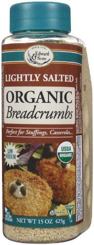 Edward & Sons Organic Bread Crumbs, Light Salt, 15 oz