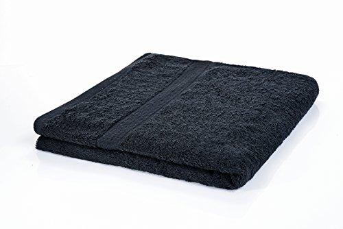 etérea Handtuch Frotteeserie - Duschtuch in Schwarz, schwere und flauschige 500 g/m² Qualität, 70 cm x 140 cm