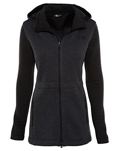 The North Face Indi Insulated Hoodie Womens TNF Black Heather/TNF Black L by The North Face
