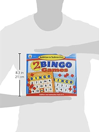 Amazon.com: Addition and Subtraction Bingo: Game: Toys & Games