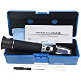Professional Automatic Temperature Compensation Sea Water Salinity Refractometer for Aquarium, Hydrometer, 0-100ppt