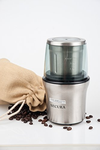 Secura Electric Coffee Grinder & Spice...