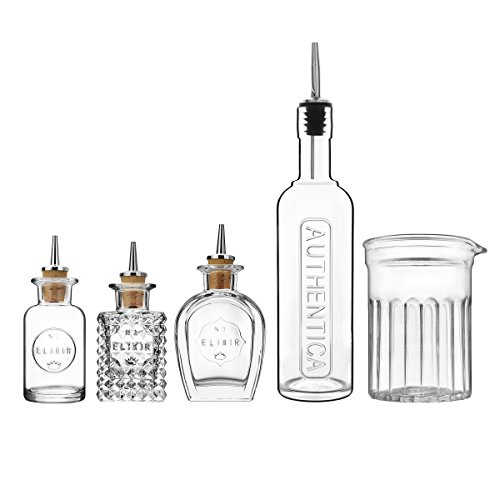 (Luigi Bormioli 12324/01 Mixology 5-Piece Barware Set 0 Clear)