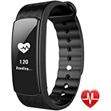 Smart Watch with Heart Rate Monitor, Lintelek Fitness Activity Tracker Band Bluetooth 4.0 Waterproof with Health Sleep Monitor Pedometer Calorie/Step Counter for Android iOS