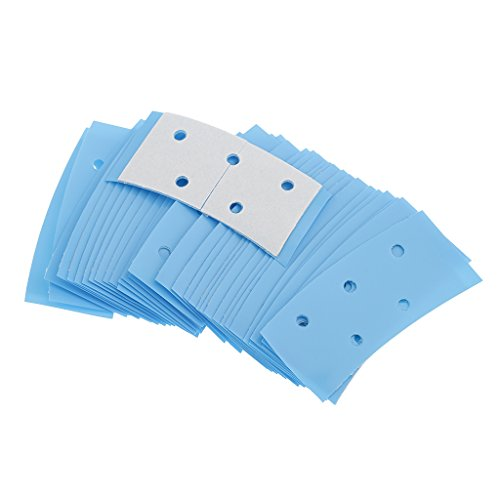 Hair Tape System (MagiDeal Bulk Lot of 36pcs Mini Double Sides Hair System Tape Adhesive Ultra Strong Hold Blue Color)