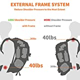 External Frame Hiking Backpack 40L Waterproof