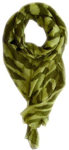 Peach Couture Summer Spring Zebra Print Trendy Animal Print Fashion Graphic Shawl Wrap Scarf(Green/Forest Green)