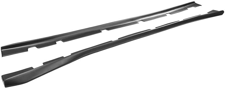Side Skirt Extension Rocker Panel Carbon Fiber Print IKON MOTORSPORTS 2016 2017 2018 2019 Side Skirts Compatible With 2015-2020 Dodge Charger SRT