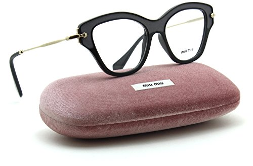 Miu Miu MU 07OV NOIR Collection Women RX - able Eyeglasses w/ Silk Inserts (Black VIE-1O1, - Prescription Eyewear Miu Miu