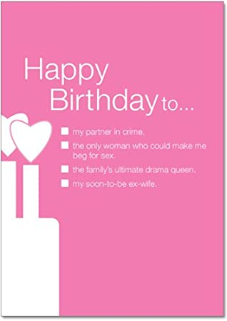 Partner In Crime Birthday Funny Greeting Card Amazoncouk Office