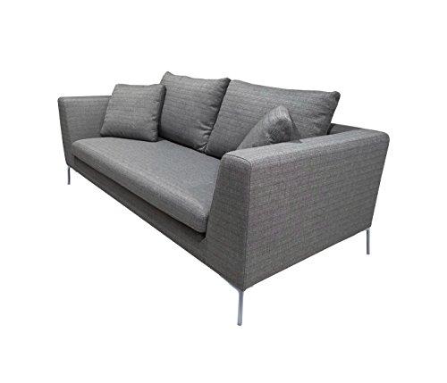 Amazon.com: KMP – muebles Bernie sofá de tres tela, Tela ...