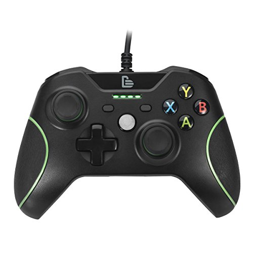 Xbox one,Greshare Streamlined Dual Vibration Controller for Xbox One (Slim) with 4 LED Indicators and 3.5 Audio Jack USB Wired Replacement Gamepad.
