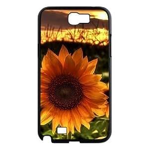 Sunflower DIY Cover Case for Samsung Galaxy Note 2 N7100 LMc-12011 at WANGJING JINDA
