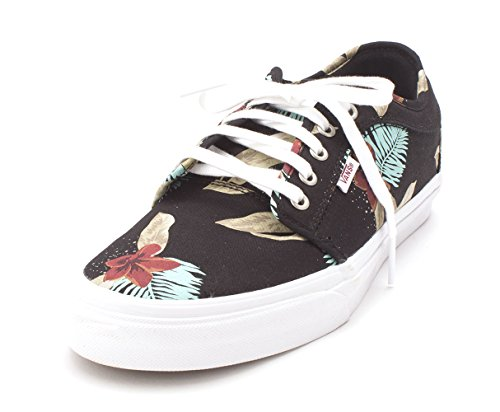 Bestelwagen Heren Chukka Lage Stof Lage Top Skateboarden Schoenen Aloha Zwart