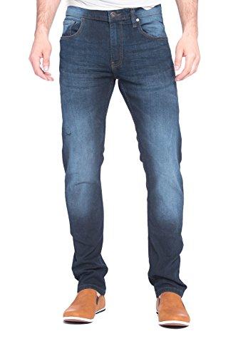 Alexander Julian Mens Belted Designer Slub Denim Stretch Jeans with Belt - 38/30 (Belted Classic Belt)