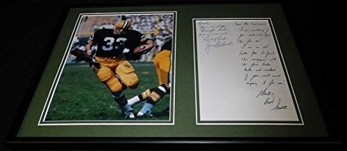 Jim Grabowski Signed Framed 12x18 Handwritten Letter & Photo Display Packers - NFL Autographed Miscellaneous -