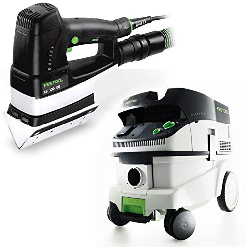 Festool P26567852 Duplex Linear Detail Sander with CT 26 E 6.9 Gallon HEPA Mobile Dust Extractor -