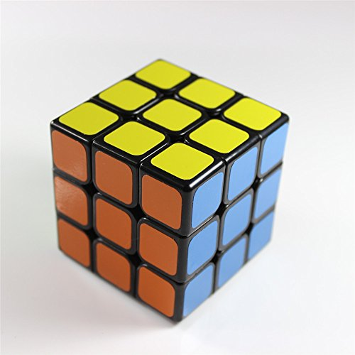 GoodPlay Fangshi GuangYing Magic Cube Speed Puzzle Sticker 3x3x3 Puzzle Cube Black(+ one customized cube bag)