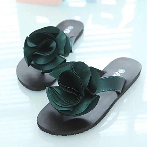 Beach Womens Bagno Infradito Clode Zeppa Shoes Soft Flower Slipper Summer Green Con Sandali Da New UUZR7rqa