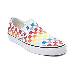Vans Unisex Slip On Rainbow Chex Skate Shoe Sneaker
