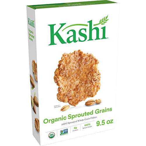 Kashi Organic Sprouted Grains Breakfast Cereal - Vegan  Non-GMO Project Verified, 9.5 Oz Box (Best Tasting Sprouted Grain Bread)