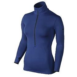 Nike Women's Hyperwarm Half-Zip 3.0 Fitted Top, Deep Royal (456 Deep Royal, XL)