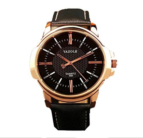 JACKY'S Wrist watch Mens Watch Fashion 2017 Top Luxury Men's Slim Leather Analog Quartz