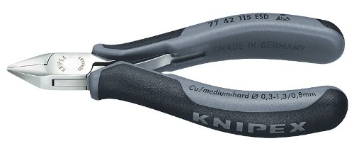 KNIPEX 77 42 115 ESD Electronics Diagonal Cutter Comfort Grip by KNIPEX Tools