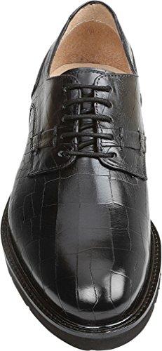 GBX Mens Brenner 5 Eyelet Croco Print Leather Fashion Oxfords Black 8FuknBYIA