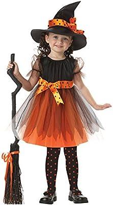 M&A Disfraz Niña Para Halloween Carnaval Naviadad Bruja Maga ...