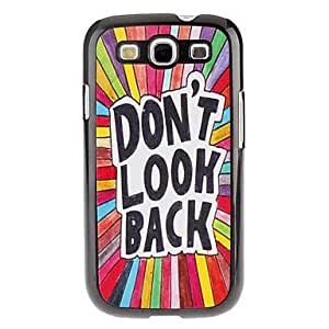 WQQ Letters Pattern Hard Case for Samsung Galaxy S3 I9300