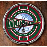 NHL Minnesota Wild Official Chrome Clock, Multicolor, One Size