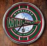 The Memory Company NHL Minnesota Wild Official Chrome Clock, Multicolor, One Size