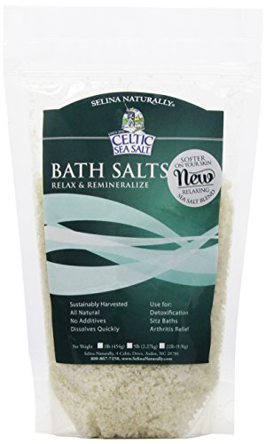 tal Celtic Sea Salt Bath Salt - Relaxing Salt Bath Soak for Relaxation, Alleviating Disease Symptoms and Aches and Pains, All Natural, Vegan and Gluten Free – 1 Pound ()