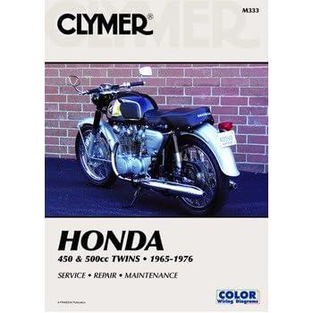 amazon com clymer repair manual for honda 400 450 twin 78 87 rh amazon com Honda Manual Transmission Fluid Sub Honda Owners Manuals PDF