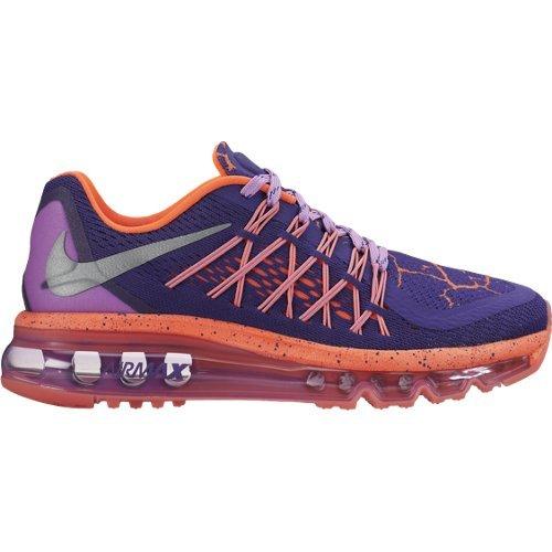 size 40 bce1d b52ce Galleon - Nike Kids Air Max 2015 Lava GS, COURT PURPLEMETALLIC  SILVER-FUCHSIA GLOW, Youth Size 3.5