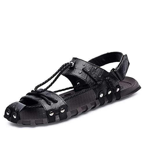 Da Comfort Sandal In Primavera Ecopelle Uomo Antiscivolo Pantofola All'abrasione Estate Black Resistenti 5T5wr7q0UF