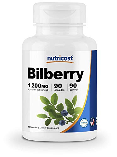 Nutricost Bilberry Capsules 1200mg Veggie product image