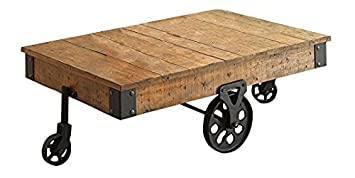 Distressed Wagon Coffee Table Rustic Brown