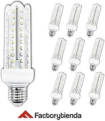 Diluxe LED - Pack X10 Bombillas LED 4U, 20W,(equivalente a 200W),Luz Fria,casquillo gordo E27, 1700 lumen, (no regulable) 360° ángulo de dispersión / 230 voltios AC,: Amazon.es: Bricolaje y herramientas