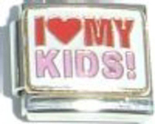 I Love My Kids Italian Charm