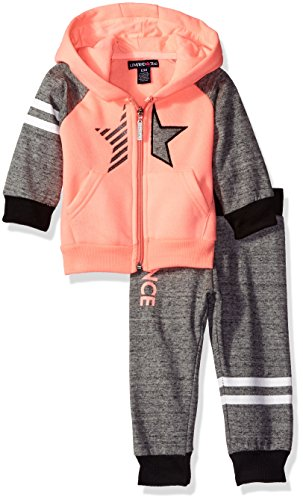 Limited Too Baby Girls' 2 Piece Fleece Jog Set, KQ53-Neon Orange -
